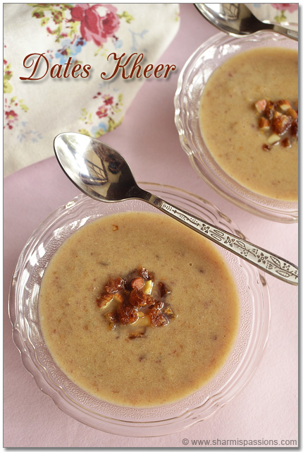 Dates Kheer Recipe