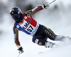 Philp enroute to a career best 27th place finish in the giant slalom in Val d'Isere, FRA