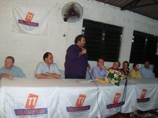 Janta durante seu discurso