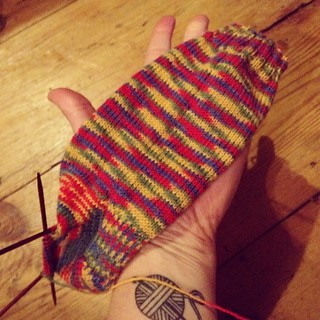 Christmas knitting progress...it's possible this is pretty much all I did all day! #operationsockdrawer