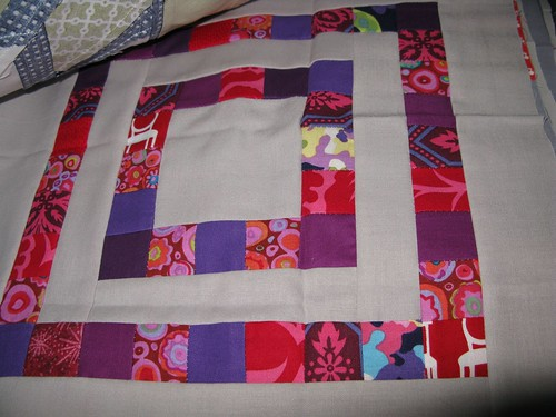 Purple/Red quilt