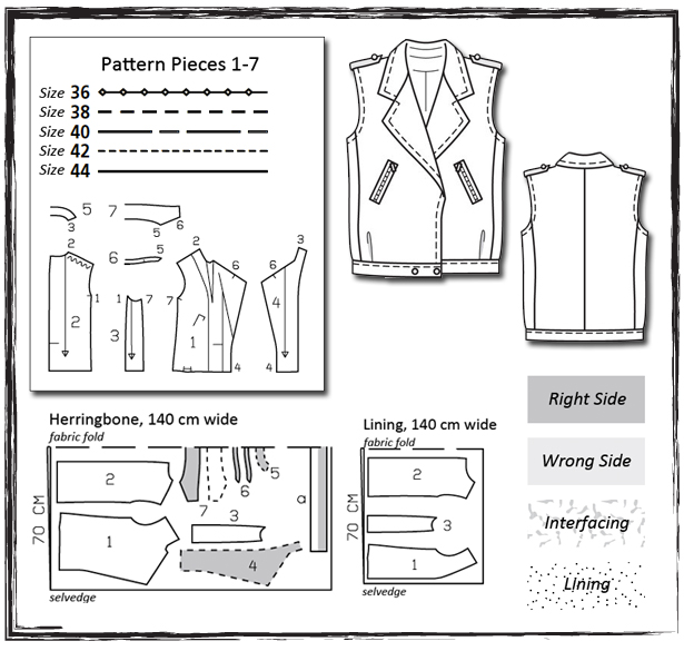 Sewing Lesson: Biker Vest 132 08/2011 – Sewing Blog | BurdaStyle.com
