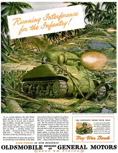 1944 - jun - 12 - LIFE MAG - RUNNING INTERFERENCE - OLDSMOBILE by roitberg
