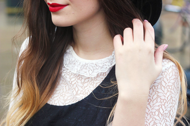 Red Lips Lace Top