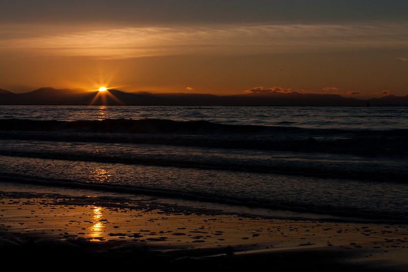 Winter sunset at UBC Wreck Beach