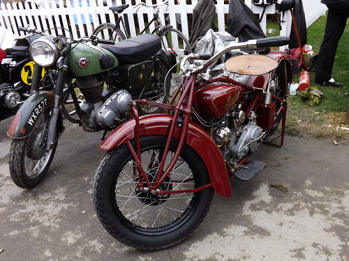 Indian and matchless motorcycles at goodwood revival 2013