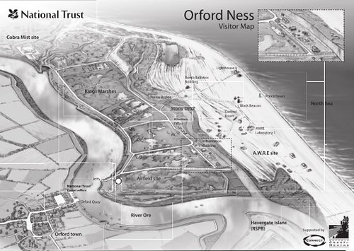 Orford Ness 地圖,National Trust 版權擁有