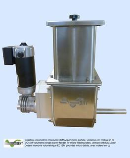 Dosatore monovite volumetrico EC15M per micro portate con motore a corrente continua