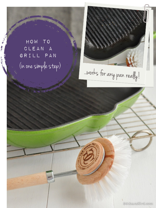 how to clean a grill pan in one simple step 84th 3rd. Black Bedroom Furniture Sets. Home Design Ideas