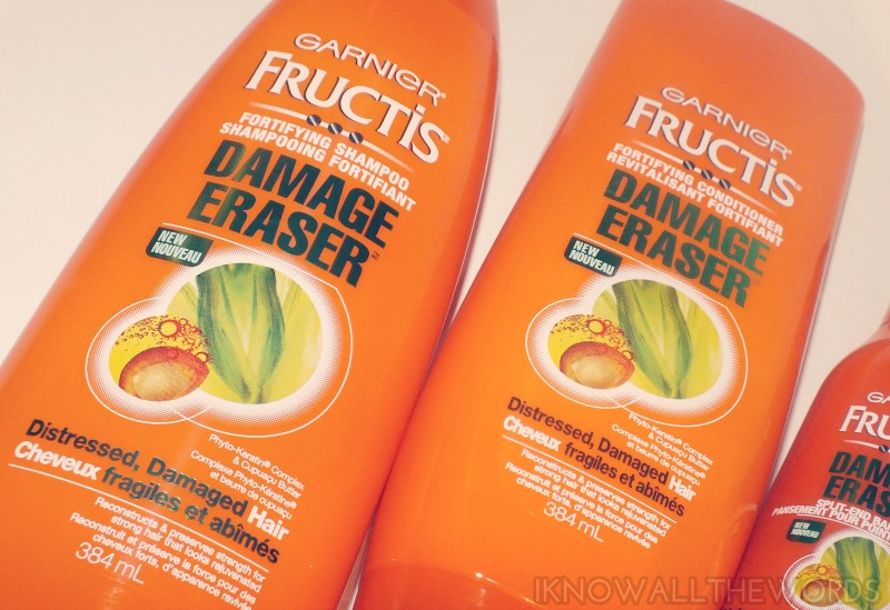 Garnier Fructis Damage Eraser- shampoo and conditioner