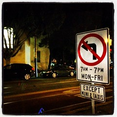 #sign #metal #noleftturn #church #street #arrow #sanfrancisco #lynnfriedman by Lynn Friedman