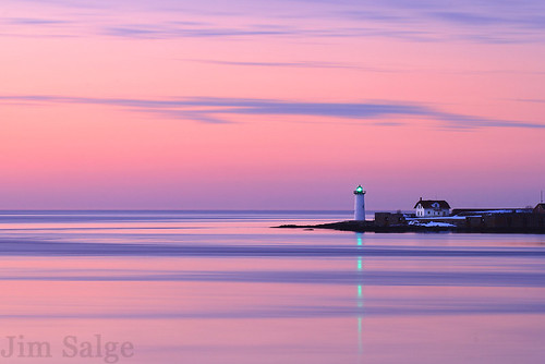 Dawn at Portsmouth Light by Jim Salge