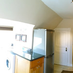 Wide View of Kitchen Viewed from Apartment Entrance
