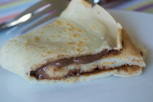 pancake with nutella