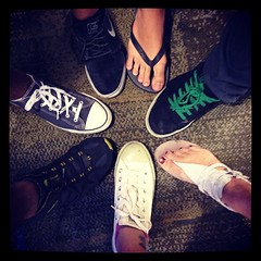 The cliche hipster feet shot. #fieldtrip #service #greengeckos #uwcsea_east