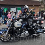 Fort Lee Motorbike Police Officer, 2014 Bergen County St. Patrick`s Day Parade, Bergenfield, New Jersey