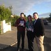 Small photo of Fiona Bonfield canvassing with Alan Kelly