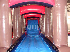 Inflatable pirate ship water slide-04