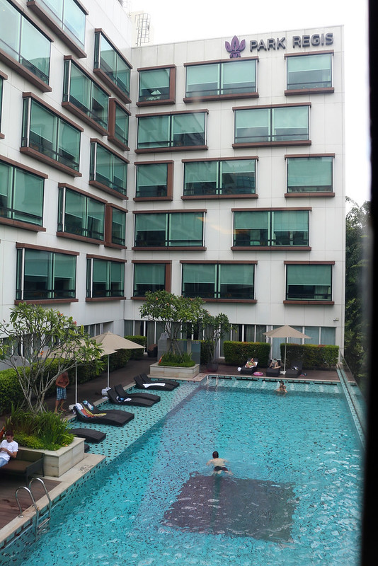 The 25m outdoor pool