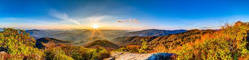 panorama usa sunrise landscape geotagged spring unitedstates hiking tennessee hdr cosby greatsmokymountainsnationalpark ptgui photomatix crestmont sigma1020mmf456exdc mountcammerer canon7d nashvillehikingmeetup catonsgrove geo:lat=3576355711 geo:lon=8316127560