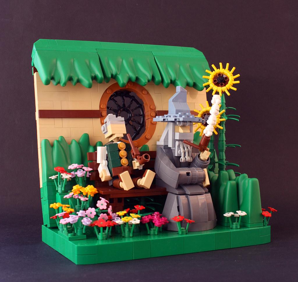 Very Old Friends (custom built Lego model)