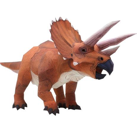 Canon Papercraft Dinosaur Triceratops Ver 2 Free Template