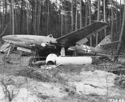 Ме-262-A captured by American troops near Burgau 1945