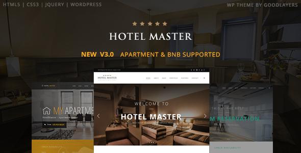 Hotel Master v3.02 – Hotel Booking WordPress Theme