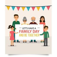 free vector Together Happy Family Frame Photo Background