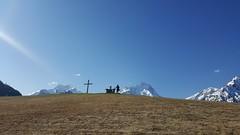 (Dimanche 9 Avril) Dernier coup d'oeil à l'Alpes de Venosc, depuis le jardin du Chalet Mounier....