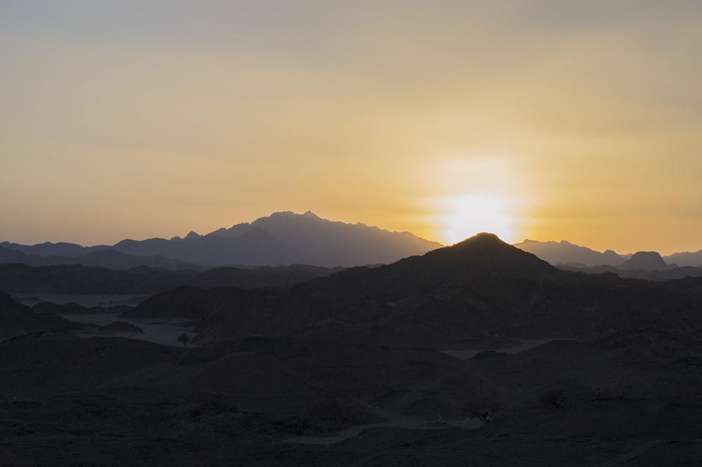 sunset desert