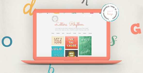 Letters Rhythm WordPress Theme free download