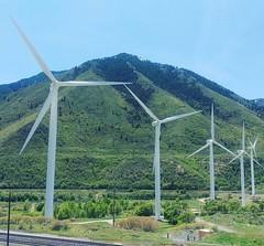 #wind #Turpin #Mountain  #blue #sky #houses