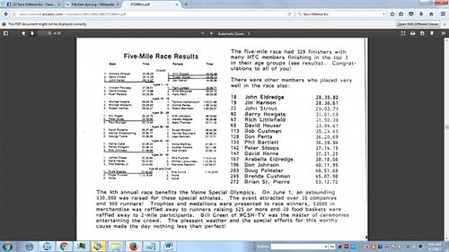 5 Mile Results 1 June 1986