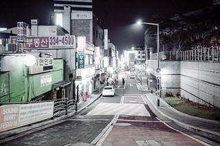 Night alley in Hapejong, Mapo