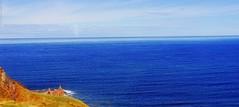 Idyllic coastline on the Scottish border