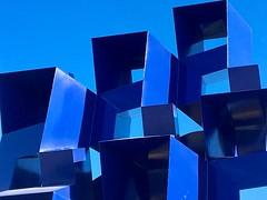 Blue Sculpture Blue Sky
