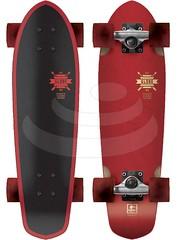 Longboard Globe Blazer clear red 2013
