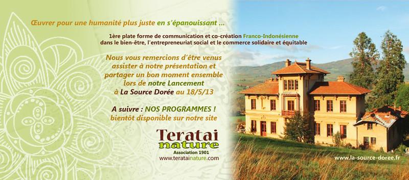 remerciement de Teratai Nature suite au lancement