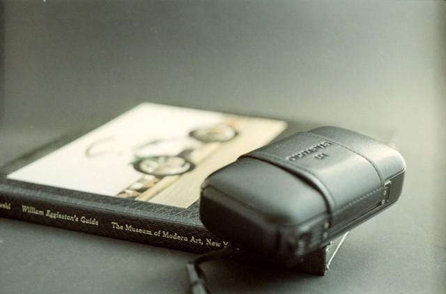 camera + book