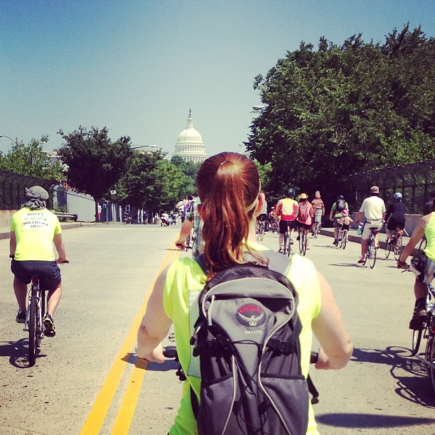Bike parade heads for the Capitol #bikedc #tourdefat