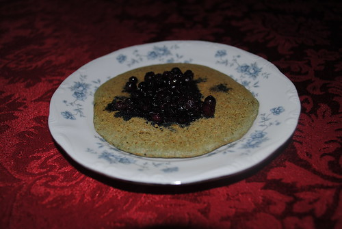 blueberry cornmeal pancakes by Decorated11
