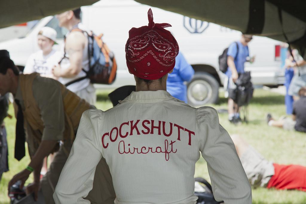 Hamilton Airshow COCKSHUTT Aircraft girl