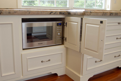 Microwave placement when u have a commercial exhaust, HELP!