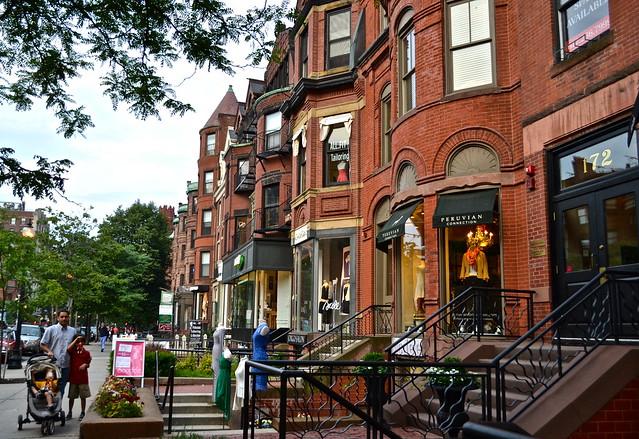 newbury street - best neighborhoods in boston