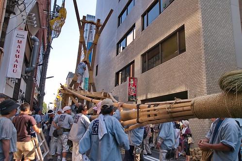 【写真】祭 : 祇園祭・山鉾建