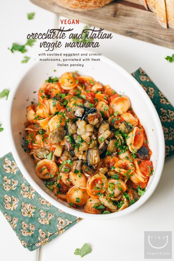 Orecchiette italian veggie marinara vegan miam orecchiette italian veggie marinara forumfinder Image collections
