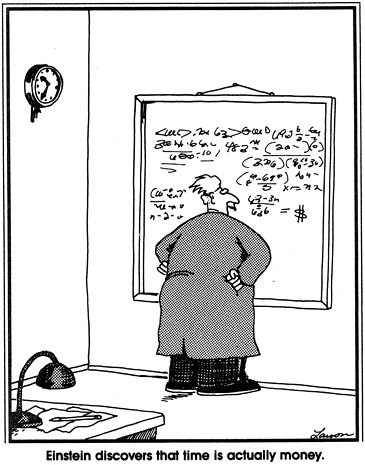 time equals money far side