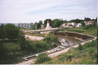 Penetangore River and Kincardine Lighthouse