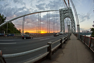 Sunrise at the George Washington Bridge | by Anthony Quintano
